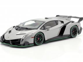 Lamborghini Veneno year 2014 gray / green 1:18 Kyosho