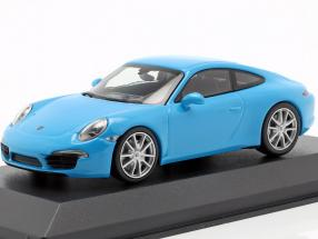 Porsche 911 (991) Carrera S year 2012 blue 1:43 Minichamps