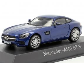 Mercedes AMG GTS year 2015 blue metallic 1:43 Norev