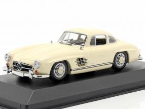 Mercedes-Benz 300 SL Coupe year 1955 cream 1:43 Minichamps