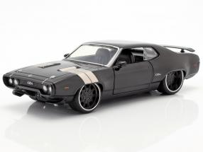 Dom's Plymouth GTX Fast and Furious 8 2017 black 1:24 Jada Toys