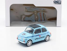 Fiat 500 San Pellegrino light blue 1:18 Solido