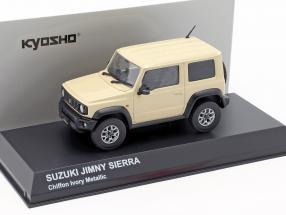 Suzuki Jimny Sierra RHD year 2018 chiffon ivory metallic 1:43 Kyosho