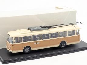 Skoda-9TR O-Bus Gera beige / tan 1:43 Premium ClassiXXs