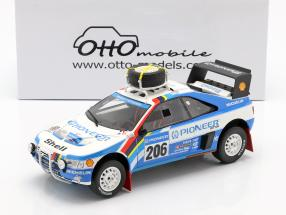 Peugeot 405 T16 #206 2nd Rallye Paris - Dakar 1989 Ickx, Tarin 1:18 OttOmobile