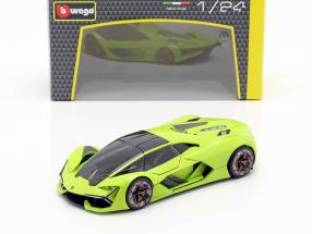Lamborghini Terzo Millennio year 2019 light green 1:24 Bburago