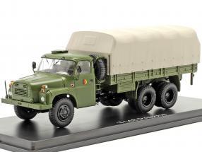 Tatra T148 platform truck with plans olive green 1:43 Premium ClassiXXs