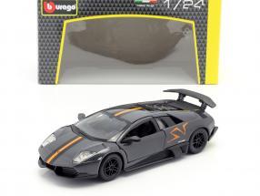 Lamborghini Murcielago LP670-4 SV gray / orange 1:24 Bburago