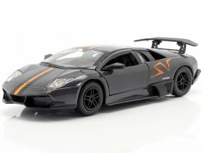 Lamborghini Murcielago LP670-4 SV gray / orange 1:24 Bburago