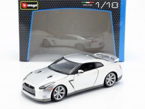 Nissan GT-R Year 2009 silver 1:18 Bburago