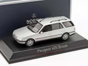 Peugeot 405 Break year 1991 quartz grey 1:43 Norev