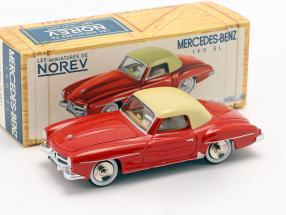 Mercedes-Benz 190 SL year 1956 red / ivory 1:43 Norev