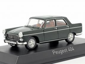Peugeot 404 year 1965 antique green 1:43 Norev