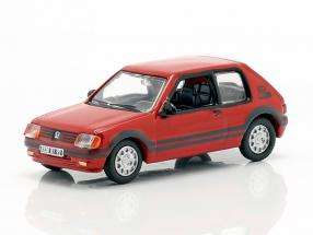 Peugeot 205 GTI 1.9 year 1987 red 1:87 Norev