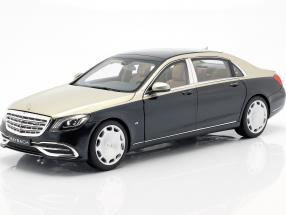 Mercedes-Benz Maybach S650 (X222) argonite silver / anthracite blue metallic 1:18 Norev