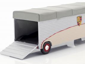 Volkswagen VW T1 racing transporter Porsche beige / silver / gray