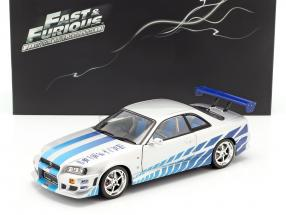 2 Fast 2 Furious Brian's Nissan Skyline GT-R (R34) year 1999 1:18 Greenlight