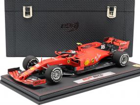 C. Leclerc Ferrari SF90 #16 5th Australian GP F1 2019 with showcase and leather box 1:18 BBR