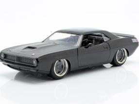 Letty´s Plymouth Barracuda Movie Fast and Furious 7 black 1:24 Jada Toys