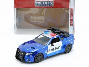 Barricade Police Car year 2016 Movie Transformers 5 blue / White 1:24 Jada Toys