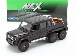 Mercedes-Benz G 63 AMG 6x6 Year 2015 black 1:24 Welly