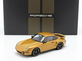 Porsche 911 (993) Turbo Classic Series Project Gold with showcase 1:18 Spark