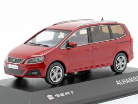 Seat Alhambra II year 2010 salsa red 1:43 Seat