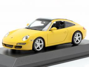 Porsche 911 (997) Targa year 2006 yellow 1:43 Minichamps