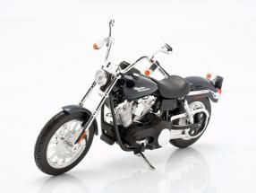 Harley Davidson FXDBI Dyna Street Bob 2006 dark blue / black 1:12 Maisto