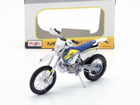 Husqvarna FE 501 white / blue / yellow 1:12 Maisto