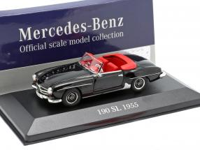 Mercedes-Benz 190 SL (W121) year 1955 black 1:43 Atlas