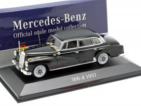 Mercedes-Benz 300 d (W189) Konrad Adenauer year 1957 black 1:43 Atlas