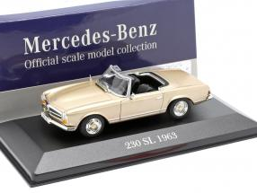 Mercedes-Benz 230 SL (W113) year 1963 gold 1:43 Atlas