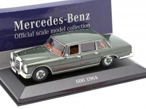 Mercedes-Benz 600 (W100) year 1964 olive green metallic 1:43 Atlas