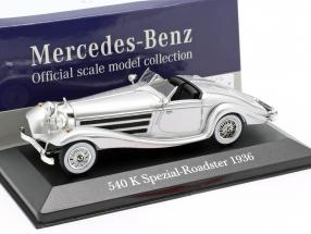 Mercedes-Benz 540K Special Roadster (W29) year 1936 silver 1:43 Atlas