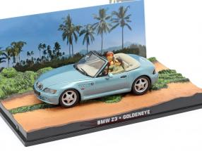 BMW Z3 James Bond movie Goldeneye Car light blue metallic 1:43 Ixo