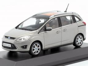Ford Grand C-Max Year 2010 gray metallic 1:43 Minichamps