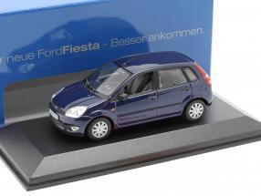 Ford Fiesta 5-door model 2001 dark blue 1:43 Minichamps