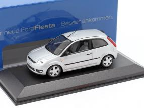 Ford Fiesta 3-door model 2001 silver 1:43 Minichamps