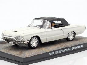 Ford Thunderbird Car James Bond movie Goldfinger white 1:43 Ixo