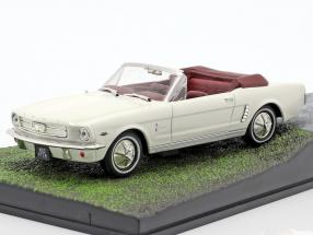 Ford Mustang Convertible James Bond movie Goldfinger Car white 1:43 Ixo