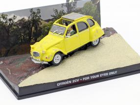 Citroen 2CV James Bond Movie Car For Your Eyes yellow 1:43 Ixo