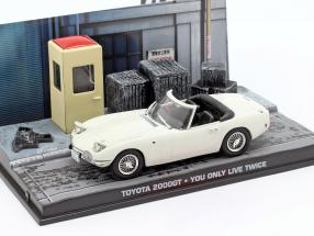 Toyota 2000GT James Bond Movie Car Man lives only know twice 1:43 Ixo