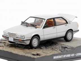 Maserati Biturbo 425 James Bond Movie Car license to kill silver 1:43 Ixo