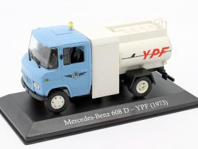 Mercedes-Benz 608 D YPF year 1973 light blue / white 1:43 Altaya