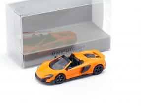 McLaren 675LT Spider year 2016 orange 1:87 Minichamps
