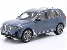 BMW X7 (G07) year 2019 blue metallic 1:18 Norev