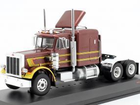 Peterbilt 359 Truck year 1973 brown metallic / yellow 1:43 Ixo