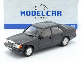 Mercedes-Benz 300 E (W124) year 1984 black metallic 1:18 Model Car Group