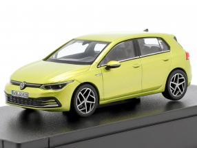 Volkswagen VW Golf VIII year 2020 lemon yellow 1:43 Norev